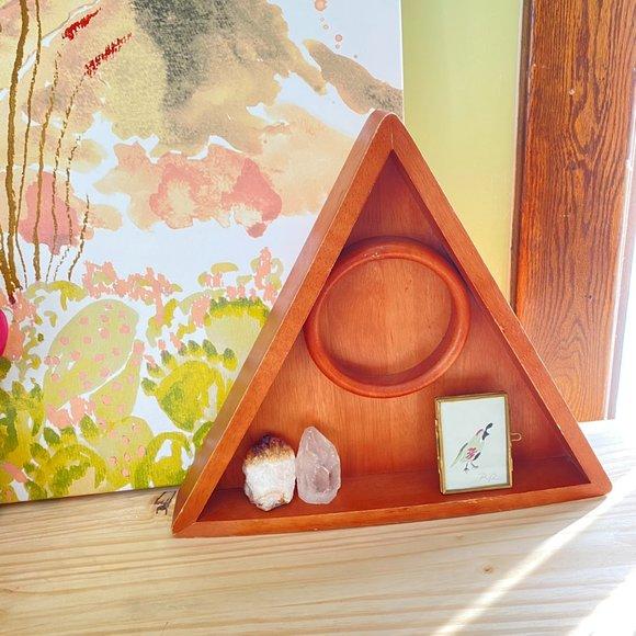 Triangle Wood Shelf, Altar Shelf, Boho Home Decor